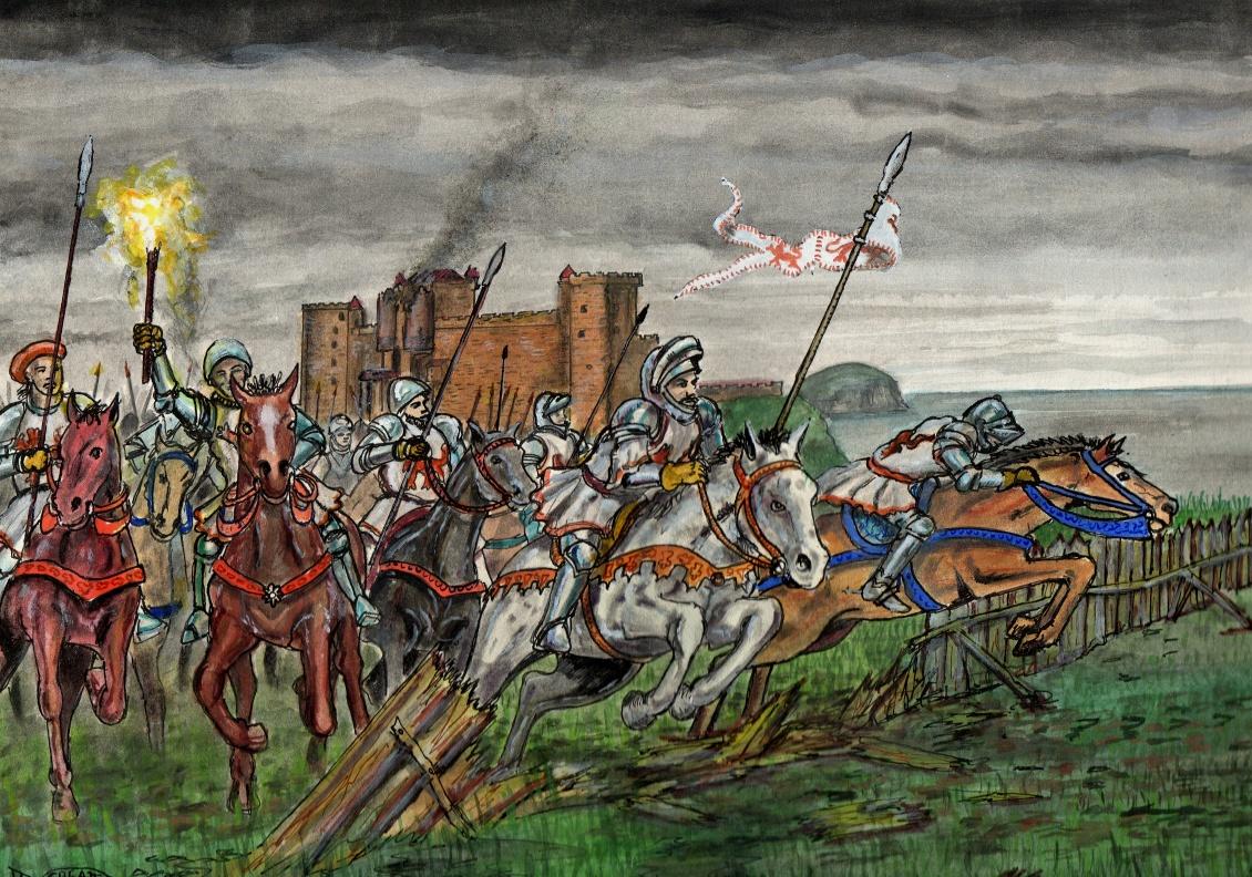 Tantallon Castle Siege 1528 - Douglas Attacks Retreating Besiegers