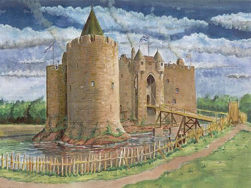 Reconstruction Of Norham Castle Seige By Scots In 1513
