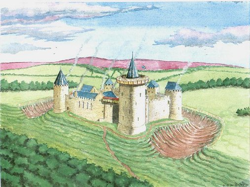 castle border design reconstruction of dirleton castle