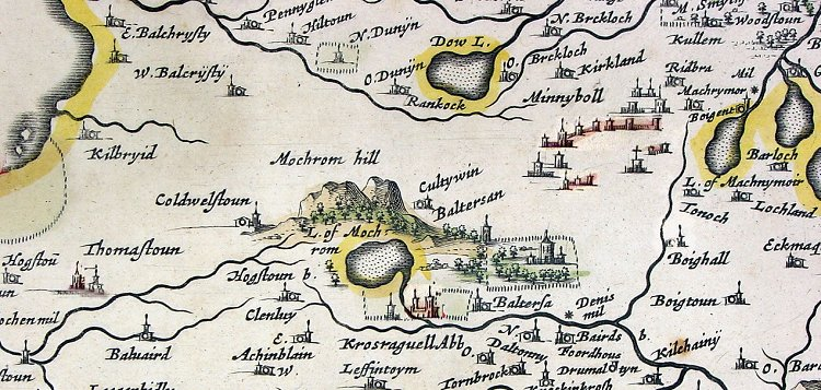 Blaeu 1654 Carrick Scotland Map