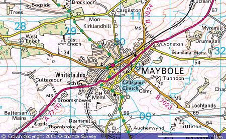 Maybole Maps