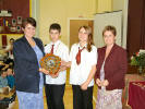 The winning house shield was presented by Mrs Whiteman to the captains of Merrick